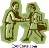 Vector Clip Art image  of a business people shaking hands