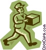 Vector Clip Art image  of a delivery man
