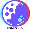 Vector Clipart graphic  of a moon