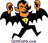 Vector Clip Art picture  of a Count Dracula