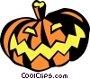 Vector Clipart graphic  of a Halloween pumpkin