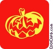 Vector Clip Art graphic  of a Halloween pumpkin