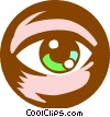 eye ball Vector Clipart picture