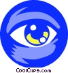 eye ball Vector Clip Art graphic