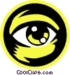 Vector Clipart image  of a eye ball