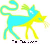 black cat Vector Clip Art graphic
