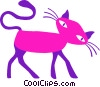 black cat Vector Clipart illustration