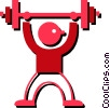 Vector Clip Art graphic  of a weight lifter