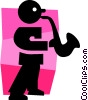sax player Vector Clipart image
