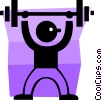 Vector Clipart picture  of a weight lifter