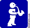 Vector Clipart picture  of a sax player