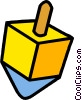 Vector Clipart graphic  of a dreidel