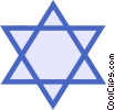 Vector Clip Art graphic  of a Judaism star of David