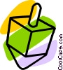 Vector Clipart picture  of a dreidel