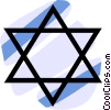 Judaism star of David Vector Clipart graphic