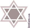 Vector Clip Art picture  of a Judaism star of David