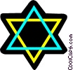 Judaism star of David Vector Clipart picture