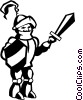 Vector Clipart graphic  of a knight