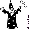 Vector Clipart graphic  of a wizard