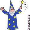 wizard Vector Clipart illustration