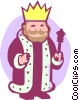 king Vector Clip Art image