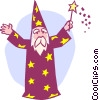 wizard Vector Clipart graphic