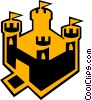 castle Vector Clipart graphic