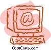 Vector Clipart image  of a personal computers