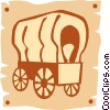 covered wagons Vector Clip Art picture
