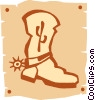 cowboy boot Vector Clipart picture