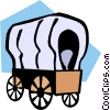 Vector Clipart graphic  of a covered wagons