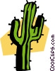 Vector Clip Art picture  of a cactus