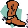 Vector Clipart illustration  of a cowboy boot