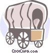 covered wagons Vector Clip Art image