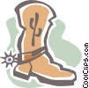 cowboy boot Vector Clip Art graphic