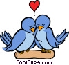 Vector Clipart graphic  of a Love birds