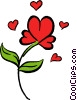 Red rose Vector Clip Art graphic
