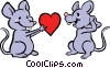 Mice in love Vector Clipart image