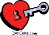 key to my heart Vector Clipart graphic