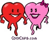 Vector Clipart illustration  of a valentines day hearts