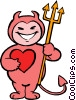 Vector Clipart graphic  of a little devil