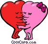 valentines day hearts Vector Clip Art graphic
