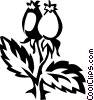 Vector Clip Art graphic  of a rosehips