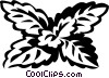 Vector Clip Art image  of a lemon balm