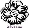 Vector Clipart graphic  of an anemone
