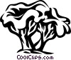 Vector Clipart picture  of a chanterelle
