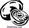Vector Clip Art graphic  of a kiwi
