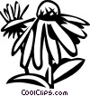 Vector Clip Art graphic  of a cone flower