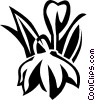 Vector Clip Art picture  of a satin flower