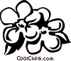 Vector Clipart graphic  of a forget-me-nots